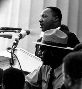 Martin Luther King Jr. speaks during the March on Washington.